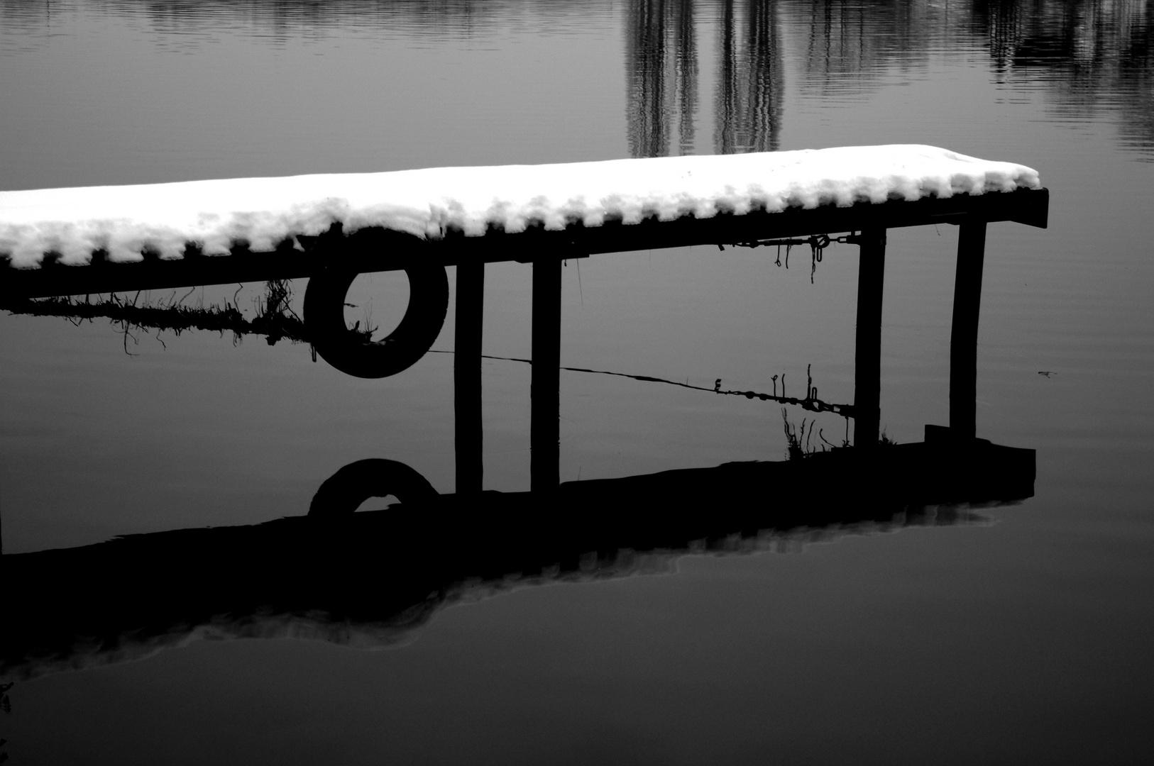 Hochwasser-Reste ...
