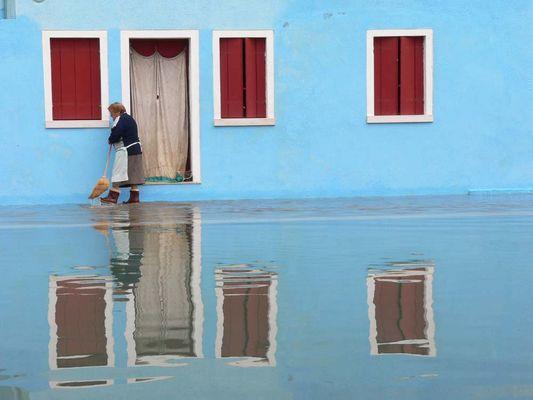 Hochwasser Venedig - Insel Burano