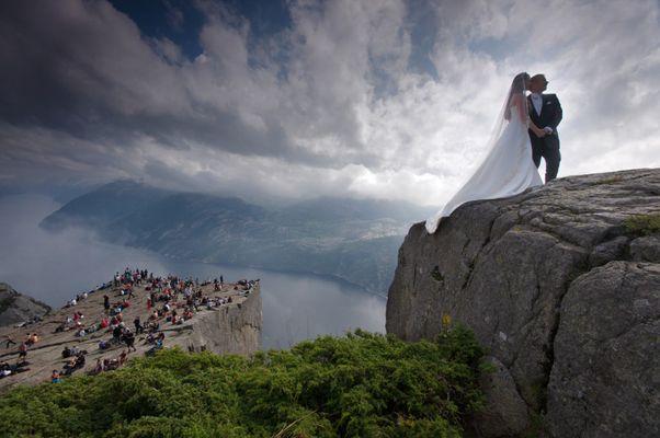 Hochzeit auf dem Preikestolen ;-)