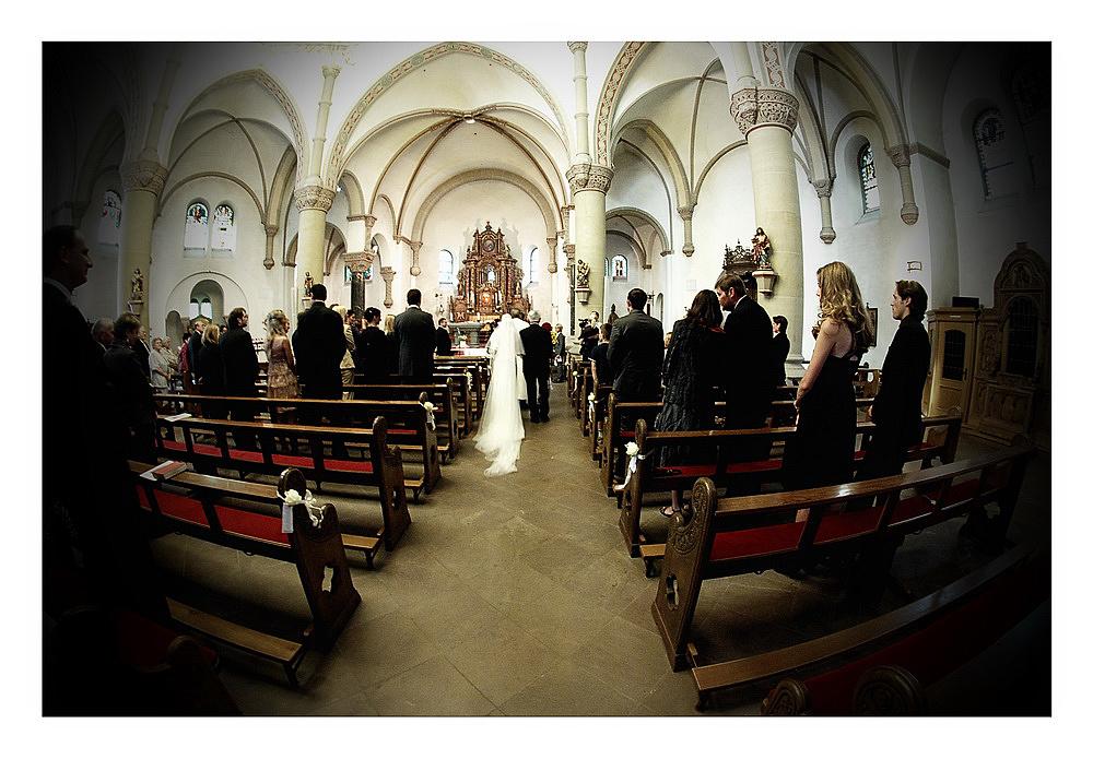 Hochzeit - der Einzug