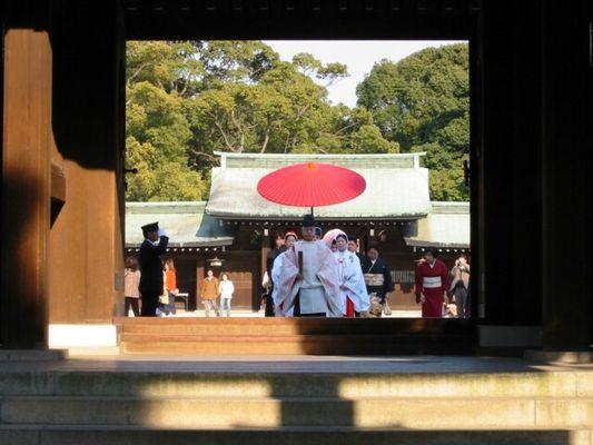 Hochzeit im Meji-Jingu