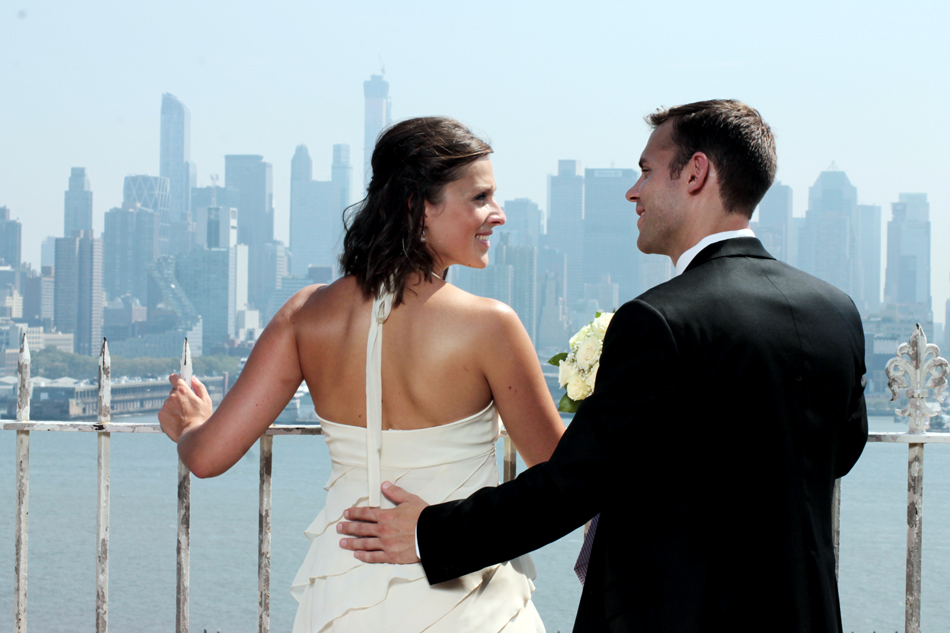 Hochzeit vor der Skyline Manhattans