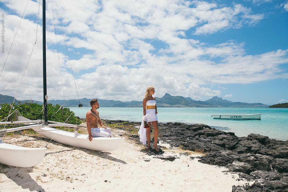 Hochzeits-Fotoshooting auf Mauritius