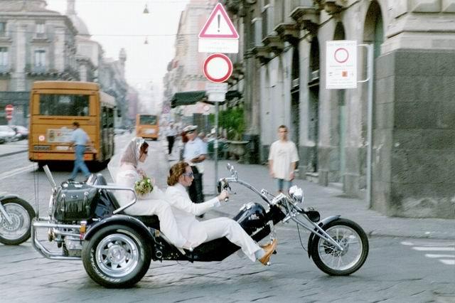 Hochzeitsauto auf sizillianisch
