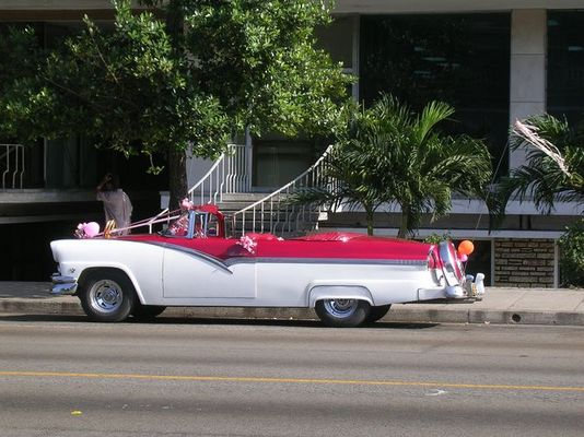 Hochzeitsauto in Havanna