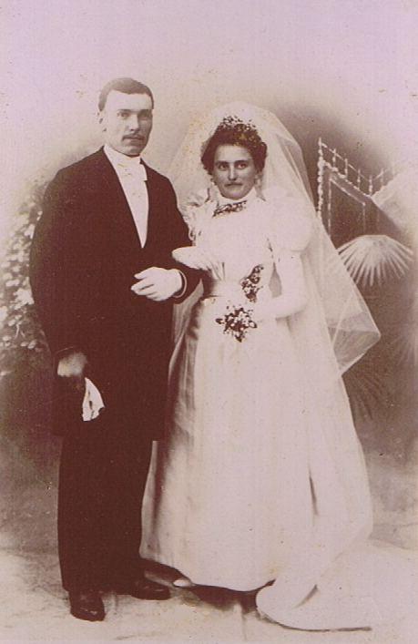 Hochzeitsbild - Ende des XIX. Jahrhunderts