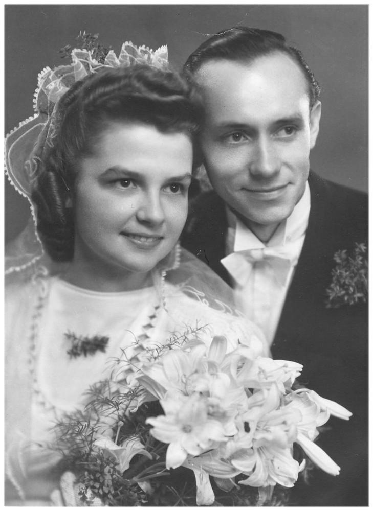 Hochzeitsbild um 1954