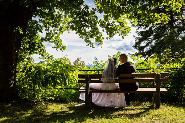 Hochzeitsfoto auf Burg Staufenberg
