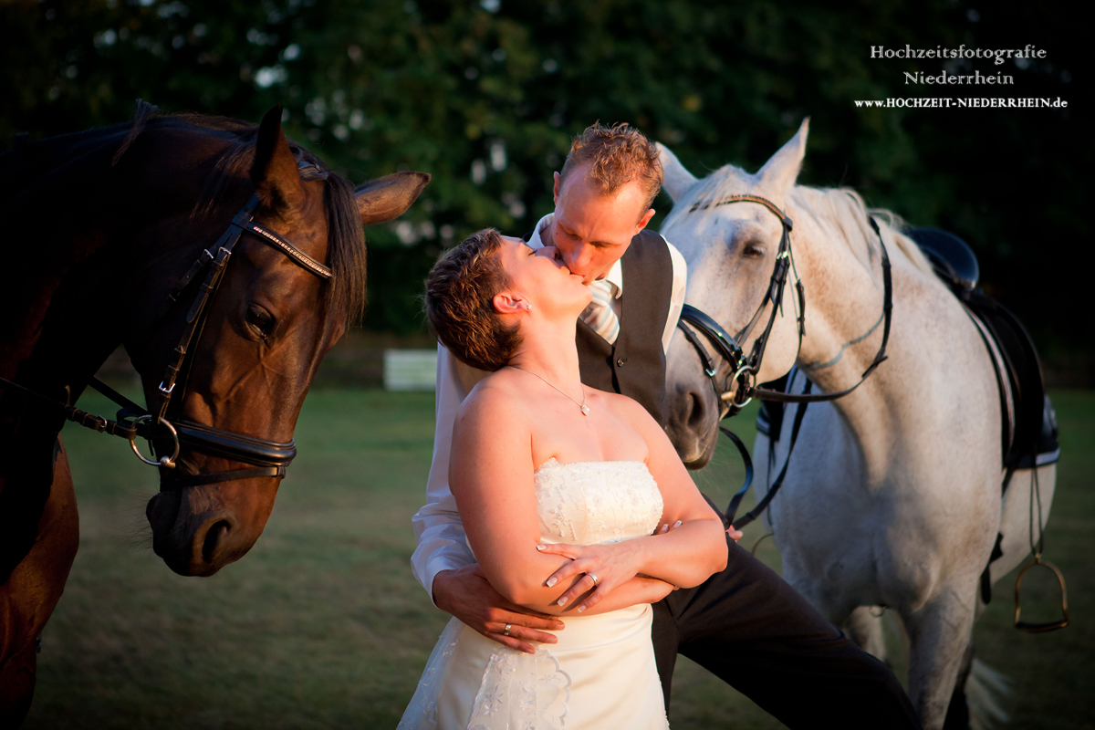 Hochzeitsfotograf NRW - hier in Hamminkeln - Pferdehochzeit ;)