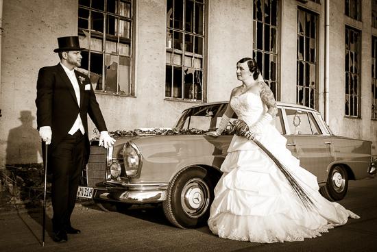 Hochzeitsfotografie: Blickkontakt Brautpaar