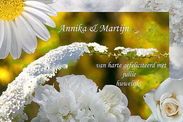 Hochzeitskarte für Annika & Martijn