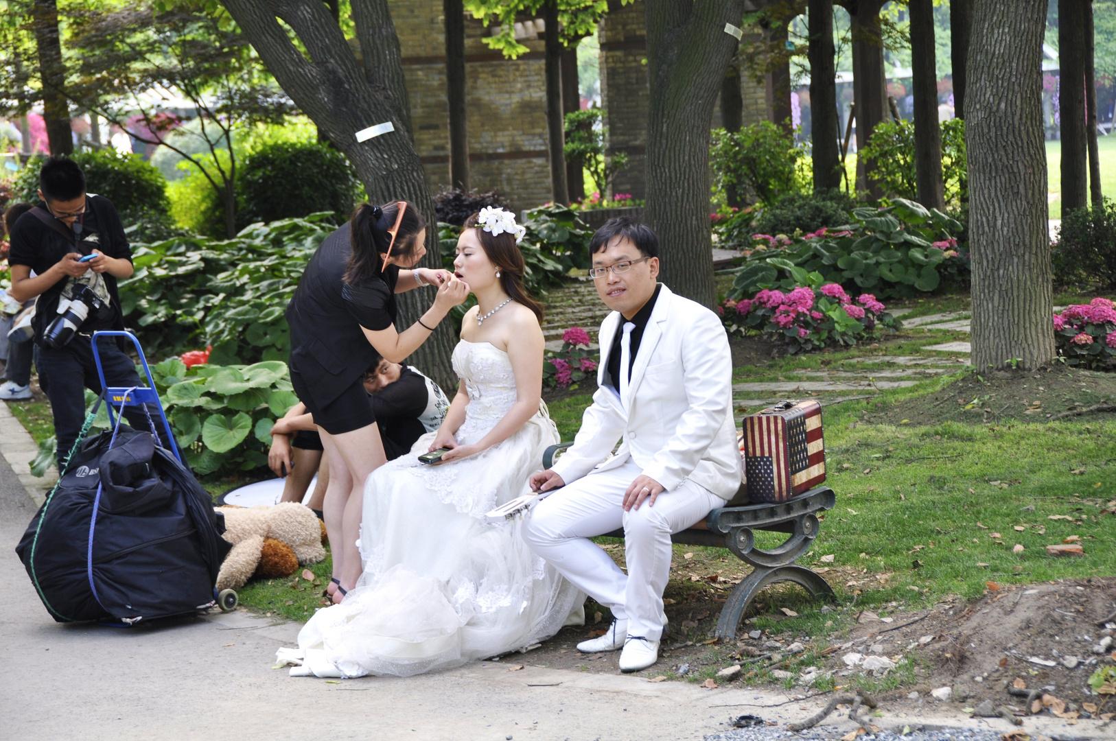 Hochzeitsvorbereitung in Shanghai