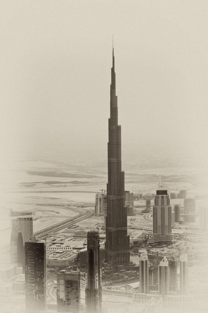"""Höchste Gebäude der Welt """"Burj Khalifa"""" in Dubai."""