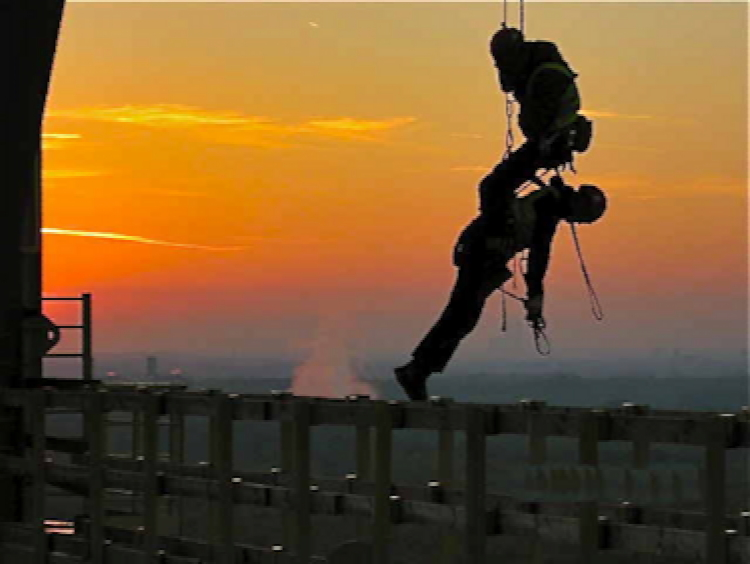 Höhenrettung im Training