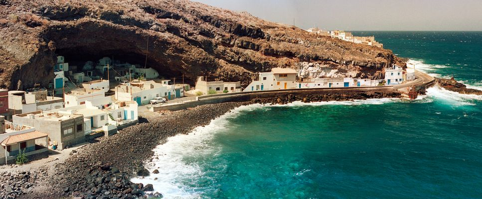 Höhlendorf an der Calle Toninas am Barranco Arriba bei Gu?imar - Tenerife / Sur