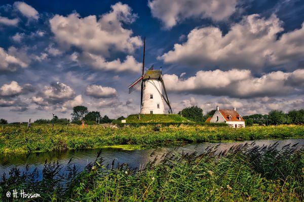 Hoeke Windmill, Damme, Belgique