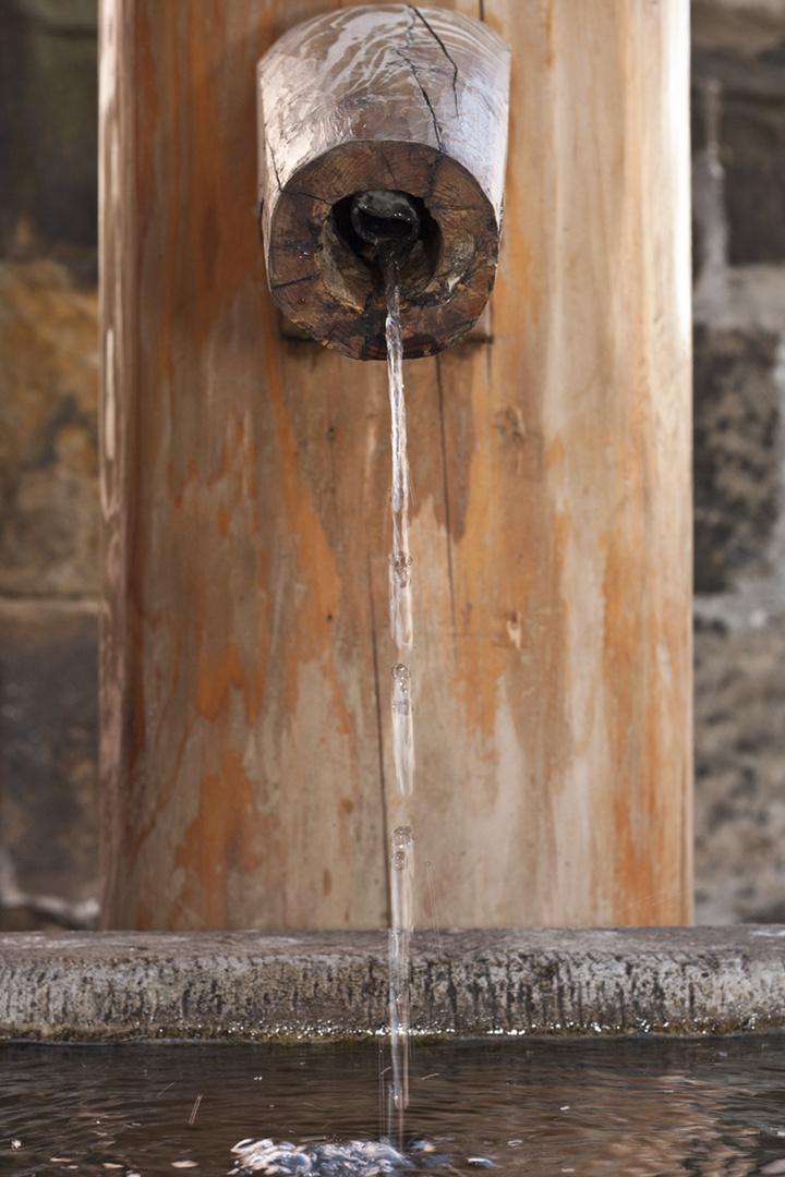 Hölzerner Brunnen in Meißen
