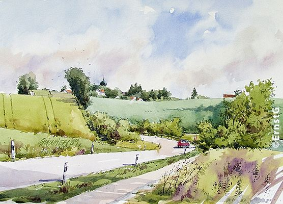 Hörmannsberg (Aquarell - OD)