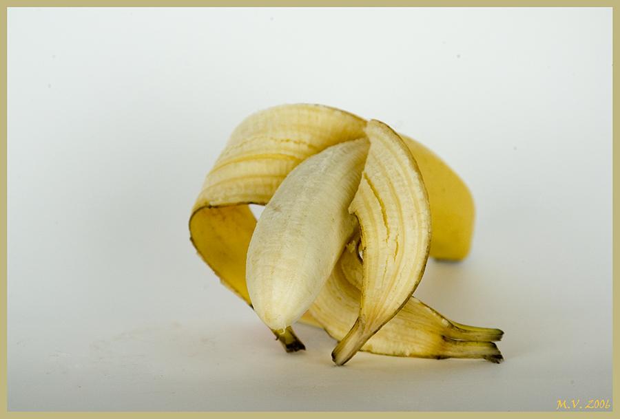 Hof-Knicks einer Banane