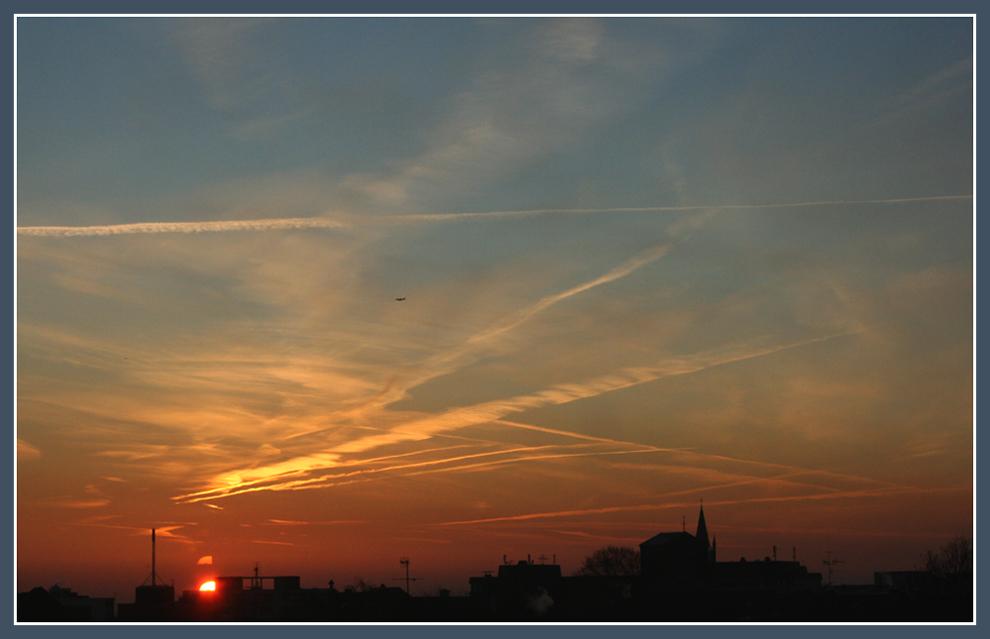 Hoffnungsvoller Sonnenaufgang