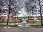 Hofgarten in München an einem Regentag