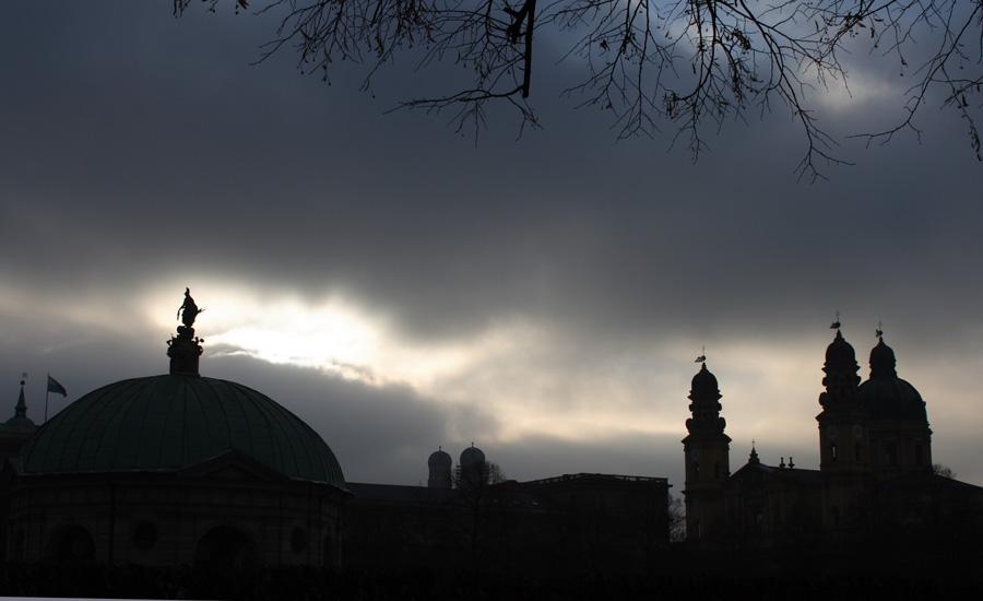 Hofgarten Tempel - Frauenkirche - Theatinerkirche