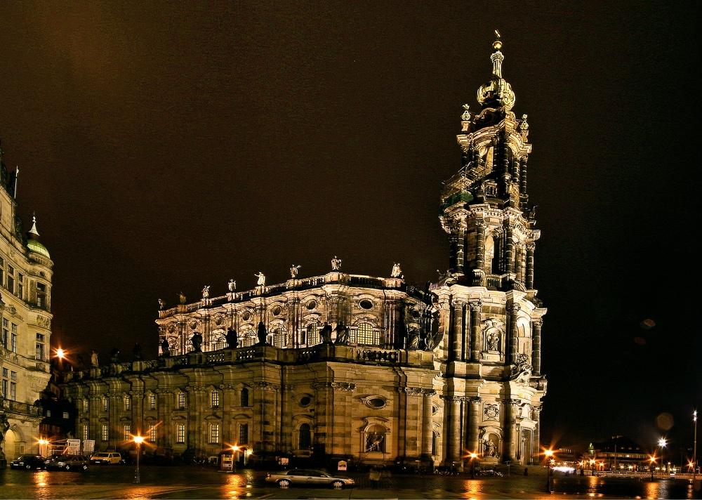Hofkirche dresden foto bild architektur architektur bei nacht dresden bilder auf fotocommunity - Dresden architektur ...