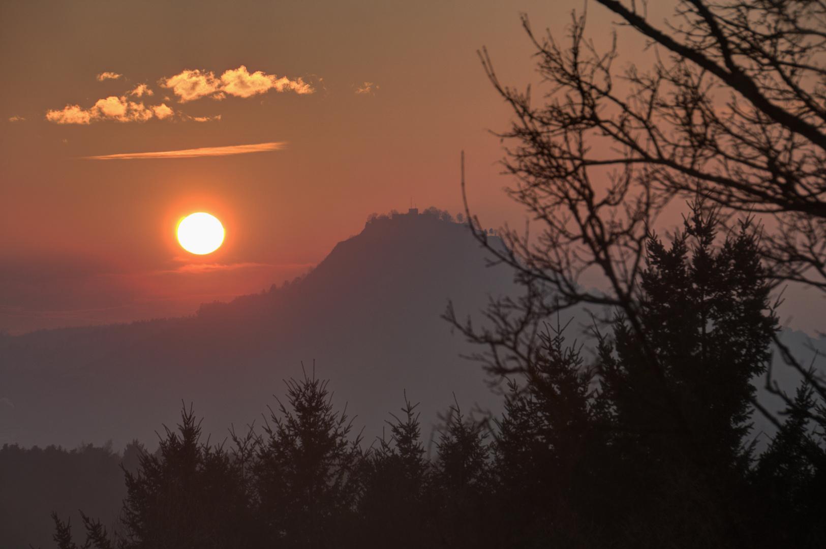 Hohentwiel Sonnenuntergang I