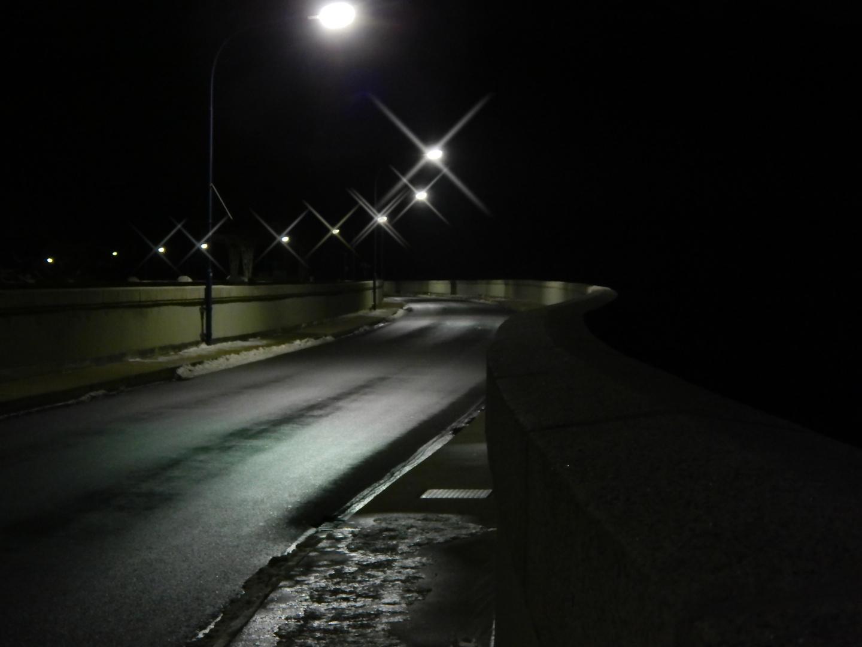 Hohenwarte Talsperre Thüringen Winternacht