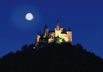 Hohenzollern bei Nacht