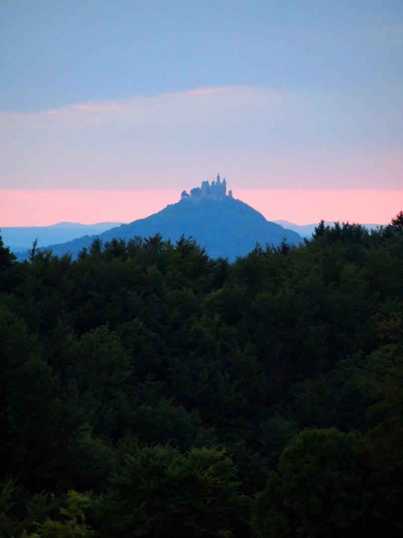 Hohenzollern im Abendlicht