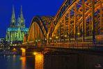 Hohenzollernbrücke + Dom