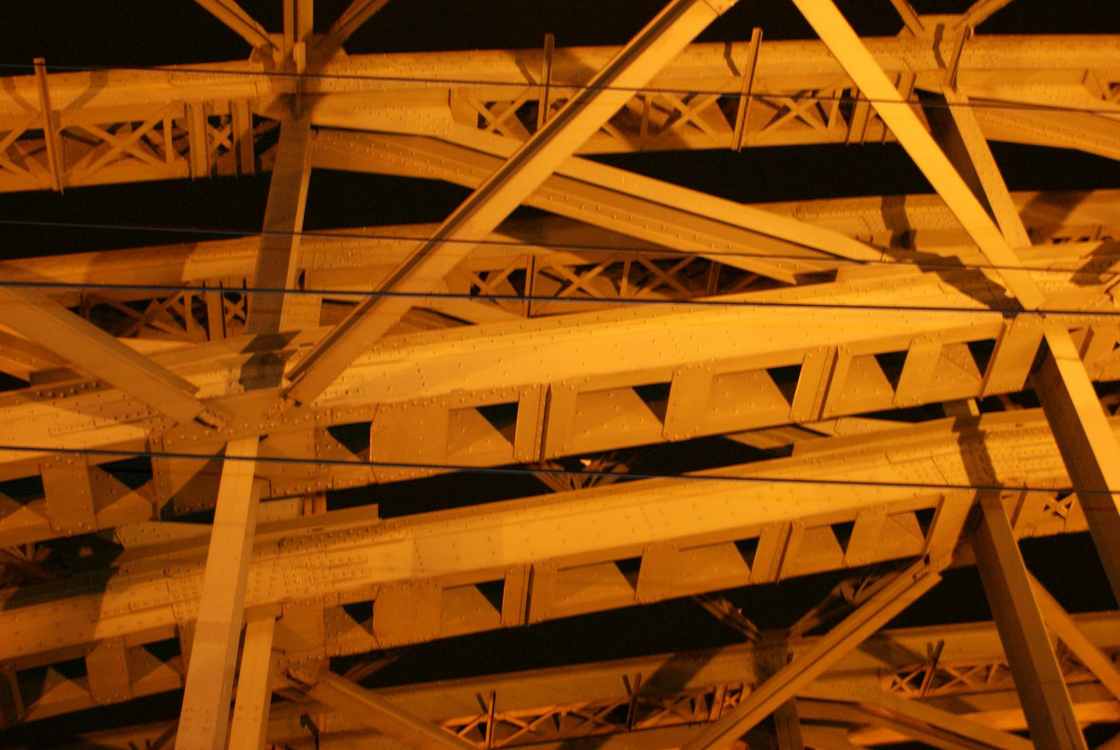 Hohenzollernbrücke im Detail