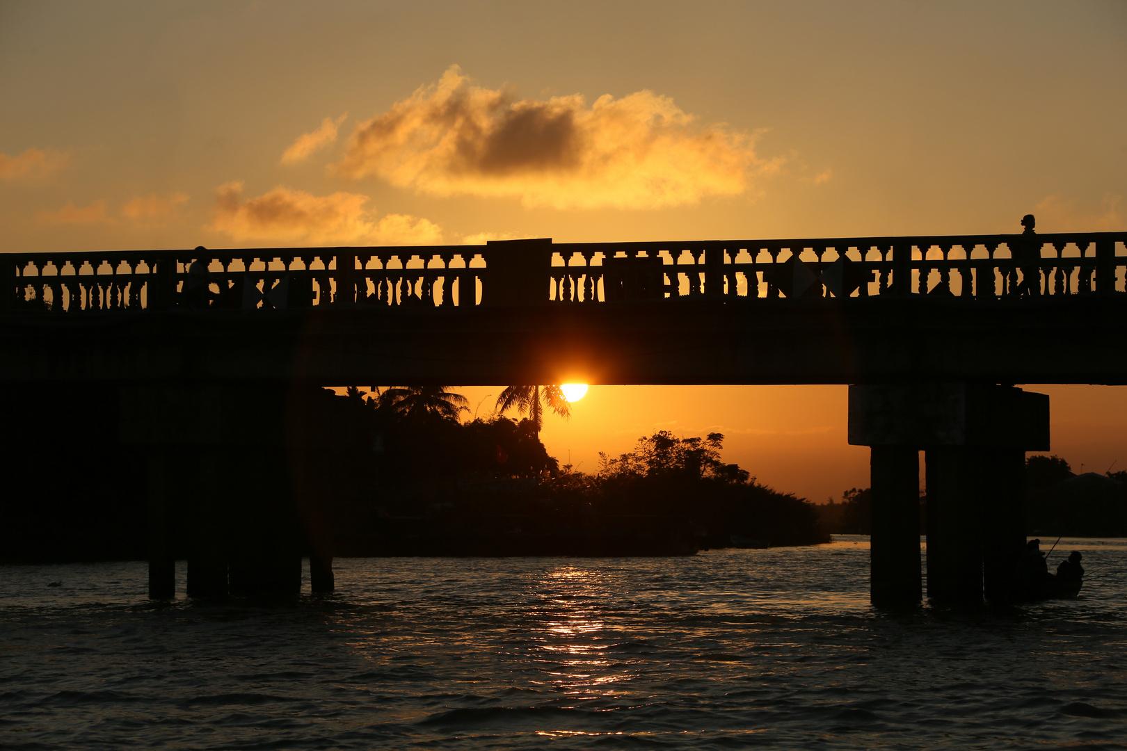 Hoi An Brücke im Sonnenuntergang