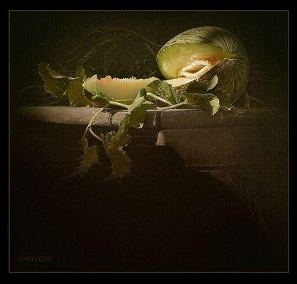hojas y melón