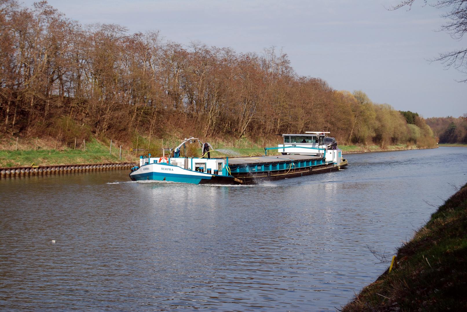 Holländischer Binnenschiffer auf dem Stichkanal bei Vechelde/Braunschweig