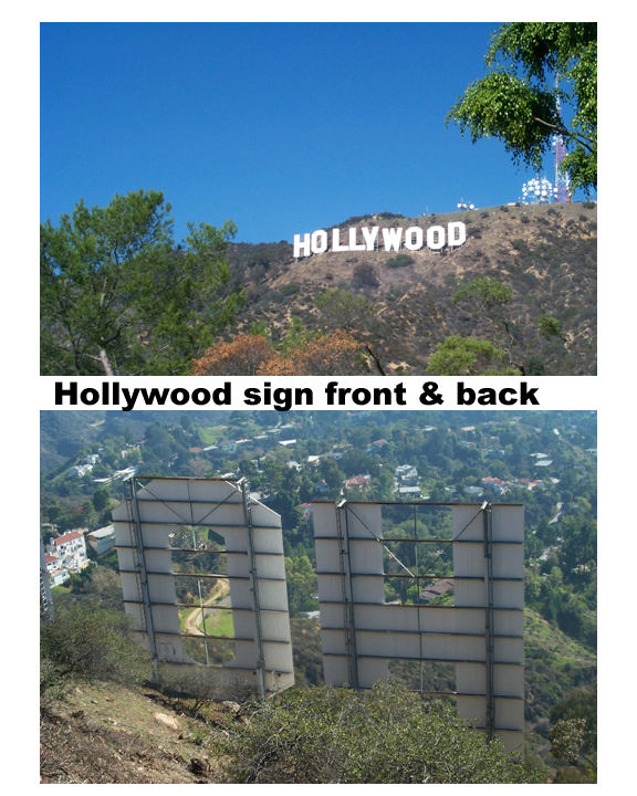 HOLLYWOOD sign up close
