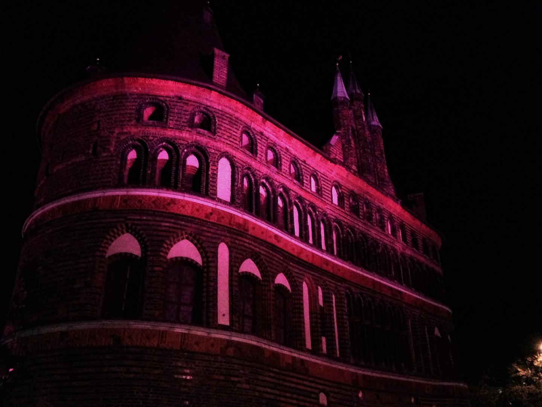 Holstentor in pink