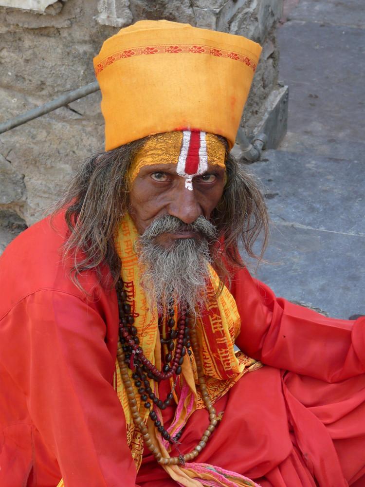 holy man - Jaintemple Udaipur