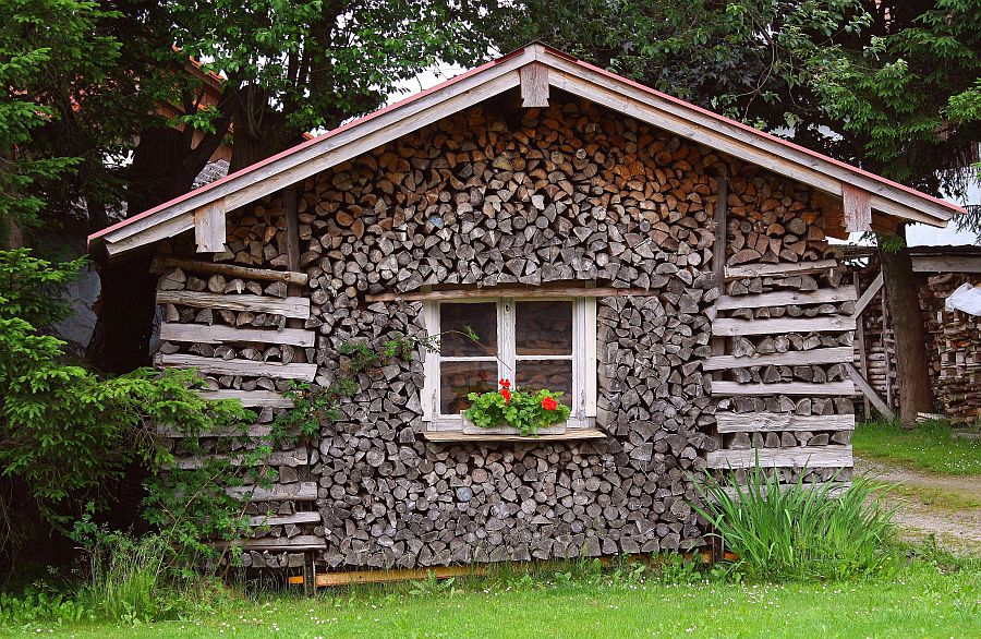 Holz nicht nur vor der Hütte ...