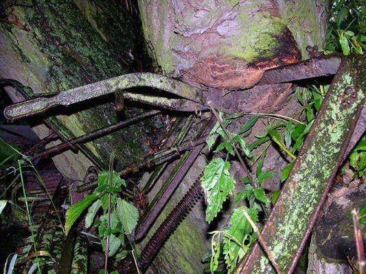 Holz & rostiges Metall