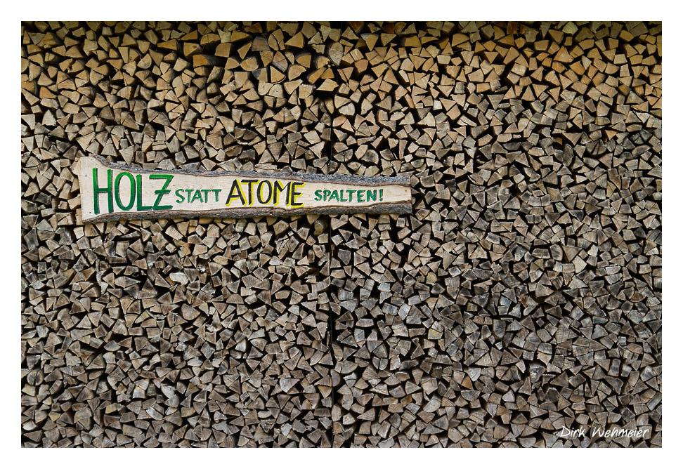 Holz statt Atome spalten