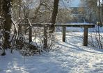 Holzbrücke im Klosterpark