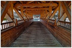 Holzbrücke in Weißensand