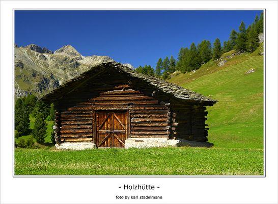 Holzhütte im Fextal