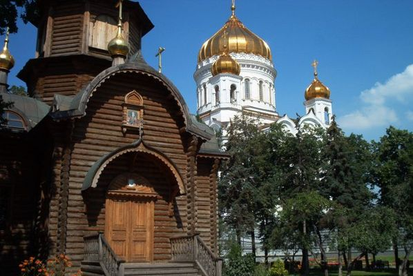 Holzkirche in Moskau
