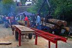 Holzsägen - wie vor ca. 50 Jahren, die erste