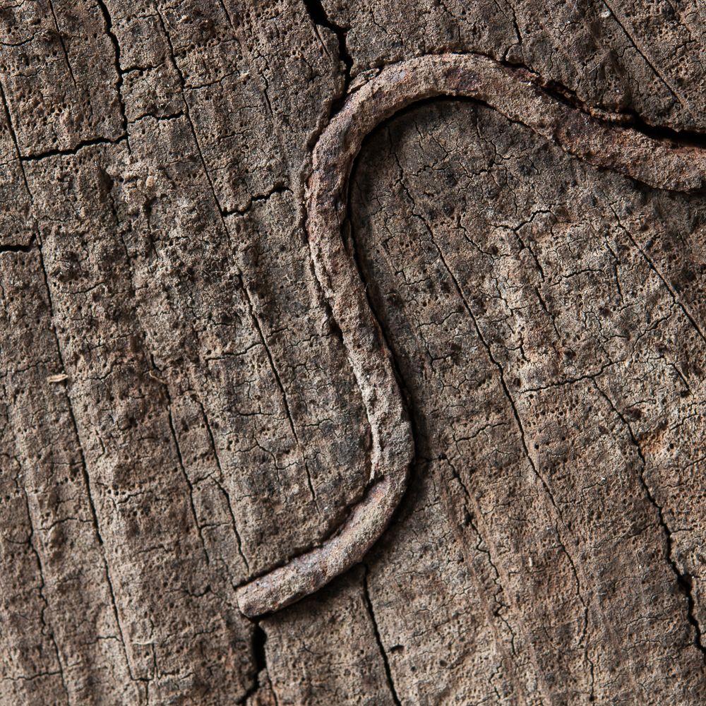 Holzschlange im Quadrat