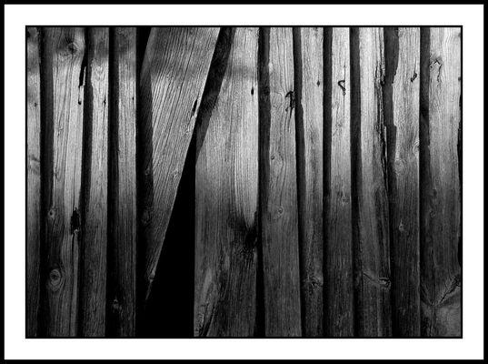 Holzstrukturen am Abend, Scheune, Tettelham 2004