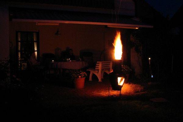Holzwolle im Terrassenofen :-)